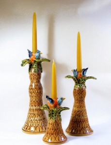 bird candlesticks
