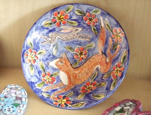 fox and hare plate