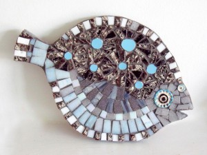 mosaiic fish blue