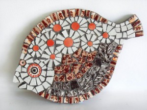 mosaiic fish red